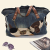 Cute Dog Cartoon Bag Girls 2014 Retro Denim Bag Girls Shoulder Bag Female Jeans Bag Personalized Women's Handbag AB01E