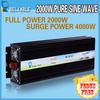 2014 Hot sales!!! 2000W Pure Sine Wave Inverter Solar Inverter 12V 24V 48V 96V DC INPUT 120V 220V AC OUTPUT Solar Inverter