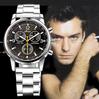 2014 New Fashion Hot Brand Casual Sport Luxury Men Black Full Stainless Steel Quartz WristWatch Clock Relojes Relogio Masculino