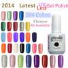 Choose 3 pieces Gel Polish 204 colors Shellac gel in Led / UV Lamp , 15ml 0.5oz Nail Gel Free Ship