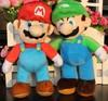 2014 New 26CM=10'' Super Mario Bros plush doll toys Stand MARIO & LUIGI Set of 2 pcs Plush Stuffed Toy Retail Child cartoon gift