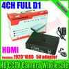 New Arrive! 4CH Mini H.264 DVR CCTV DVR Recorder P2P Cloud Full D1 Record Up to HD 1920*1080 CCTV DVR Recorder Free Shipping