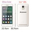 "Original Lenovo phone 1.7Ghz 2GB RAM octa core mtk6592 5.0"" 1080x1920px dual SIM Android 4.3 8mp camera WCDMA 3G GPS"