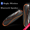 QFX TF/AUX/USB/FM Rugby Bluetooth Speaker Wireless Stereo Subwoofer Built-in Microphone Rechargeable Mega Bass Speaker Portable