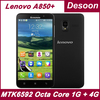 In Stock! Original Lenovo A850+ 1GB RAM 4G ROM MTK6592 Octa Core Android 4.2 OS 5.5'' IPS Screen 5.0 MP Camera GPS/Koccis
