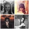 Bunny Girl Veil Headbands Rabbit Ear Hair Bands Hair Hoop Black White Cute Ears Hairwrap Hair Accessories