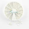 4 Sizes White Nail Art Pearl Rhinestone Decoration+Wheel Dropshipping [Retail] SKU:D0005