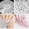 100 wheels/lot 4 Sizes 800 pcs AB Color Acrylic Crystal 3D Nail Art Crystal Glitter Rhinestone Decoration+Wheel SKU:D0878X