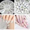 4 Sizes 800 pcs AB Color Acrylic Crystal 3D Nail Art Crystal Glitter Rhinestone Decoration+Wheel Dropshiping [Retail] SKU:D0878