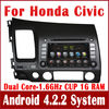 Android 4.2 Car DVD Player for Honda Civic Left Side 2006-2011 w/ GPS Navigation Radio BT USB 3G WIFI Stereo Audio Tape Recorder