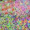 "2400 pcs bands 4 Hook 80 ""S"" Clip 4 packs Mix colorful Silicone Bracelet Crazy DIY Cheap Elastic Wholesale Rubber Loom Bands"