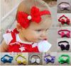 Fashion bow flowers girls child headband rhinestone Hair Jewelry hair bands Headwear Baby hair accessory 0-4T use 1pcs