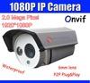 Freeshipping Onvif 1080P IP Camera P2P Cloud Easy Visit 2.0 Megapixel 1920*1080 Network Camera PC & Mobile View POE Optional