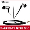 Brand ZT100i In Ear Mobile Phone Noise Isolating Earphone With Microphone High Quality Metal Headphone With Mic For Music + Talk