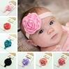 New Style Kids Hair Accessories Satin bud rose Headband Hairband Baby Girls Flowers Headbands Baby Christmas Gift Free shipping