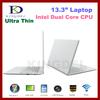 13.3 Inch Laptop, Notebook Computer with Intel Atom D2500 Dual Core 1.86Ghz, 1GB RAM, 160GB HDD, Windows 7, WIFI, Webcam, HDMI
