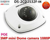 DHL Free Shipping Hikvision DS-2CD2532F-IS 3.0MP DWDR & 3D DNR & BLC IP66 Vandal-proof housing Mini Dome Network Camera