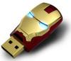 Wholesale Hot sale Fashion Avengers Iron Man LED Flash 8GB USB 2.0 Flash Memory Stick Drive U Disk Festival Thumb/Car/Pen Gift