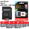Real capacity memory card Micro sd card 32gb class 10,4GB 8GB 16GB 32GB micro sd card+ card reader free shipping
