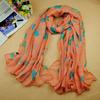 free shipping women's chiffon printe flower floral head hijab long scarf/scarves.180*110cm.10pcs/lot.