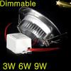 20X Dimmable Recessed Led Downlight 3W 6W 9W Dimming Led Spot light Led Ceiling Lamp AC110V 220V 230V 240V+Power Supply