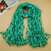 180*90cm free shipping Autumn and Winter women's chiffon bowknot printe head hijab long scarf/scarves 10pcs/lot.