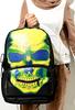 VEEVAN punk skull printing backpack Men's/women's backpacks Gym Sports Bag - hiking Camping Travel Work bag school bag