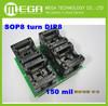 Free shipping 2PCS/lot SOP8 to DIP8 IC socket r adapter Socket =1PCS 150MIL SOP8 adapter+1PCS 200MIL SOP8 adapter