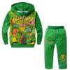 2014 NEW boys cartoon character long sleeve clothing sets kid's Teenage mutant ninja turtles design hooded clothing suits, C214