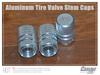 wholesale 100pcs Auto Car Truck Tire Tyre Wheel Round Ventil Valve Stems Cap For Auto Car Truck Aluminum Alloy caps sliver