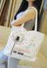 Small fresh 2014 canvas casual bag women's handbag female one shoulder tote bag