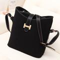 Fashion vintage 2014 fashion preppy style scrub bucket bag messenger bag women's bags