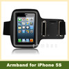 Sports Arm Band Soft PU Leather Belt Dustproof Phone Bags Cases, Waterproof Armband Pouch Holder for iPhone 5 5S