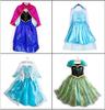 New 2014  Frozen Elsa dress Girl Princess Dress Summer longsleeve frozen dress Anna and Elsa Costume,baby & kids summer dresses