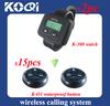 Waiter Calling System W 2 watch receiver 433mhz 15 buzzer for waiters KOQI Brand K-300 K-O3
