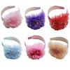 6 Colors Cute Kids Girls Princess Hair Band Flower Headdress Pearl Headband Children Hair Wear