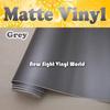 High Quality Matt Grey Vinyl Film Roll Car Wrap Air Channels For Car Stickers FedEx FREE SHIPPING Size: 1.52*30m/Roll