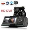 "Wholesale 2.7"" LCD Dual G sensor mini X3000 R300 HD720P GPS Cam Video Camcorder Car Camera Recorder DVR Free shipping"