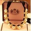 wholesale~dog collar pearl rhinestone charm pet necklace jewelry