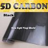 Premium High Glossy Black 5D Carbon Fiber Vinyl Car Wrap Air Release Channels For Vehicle Motorcyle Size:1.52*20m/Roll