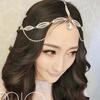 Elegant Hair Tiara Headpiece Crown Forehead Band Forehead Tiara Wedding Head Chain Hair Jewelry Forehead Jewelry Free Shipping
