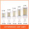 4.5w 5w 7w 10w 15w G9 Led Corn Bulb Light 220v-240v 5050SMD 24leds 27leds 36leds 48leds 69leds Warm white/ white Led Lighting
