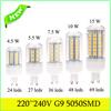 G9 4.5W 5W 7W 10W 15W LED Bulbs 220V till 240V Led Lamp 5050SDM White Warm White LED Lights