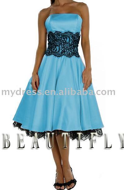 Wholesale Aqua Blue And Black Bridesmaids Dresses on SinoMart.com