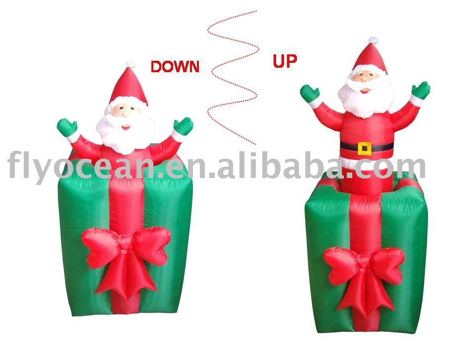 funny animation. Animation funny santa on