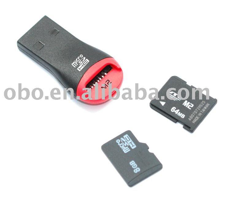 USB 2.0 TFand M2 Memory Card Reader $0.68/PCS