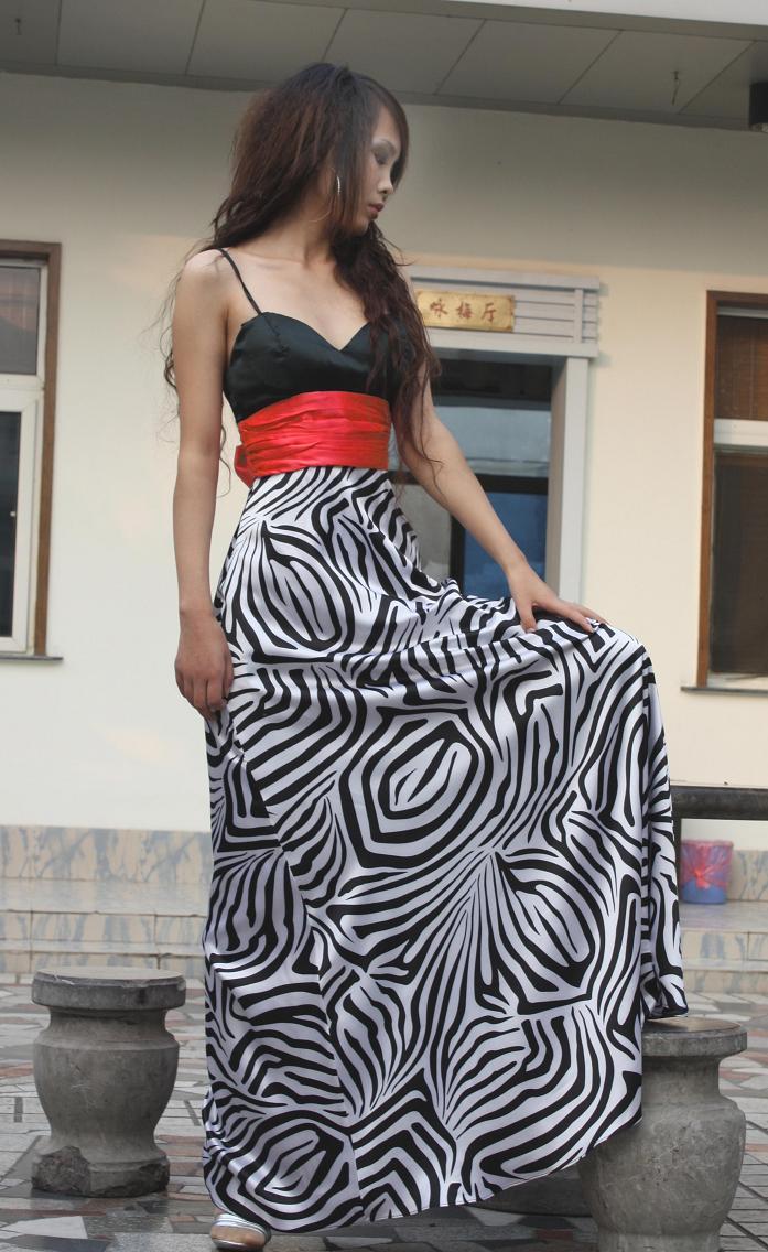 Zebra Stripe Prom Dresses 29