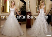 2011 Factory free shipping High quality Bare Back Satin A line Wedding Dress
