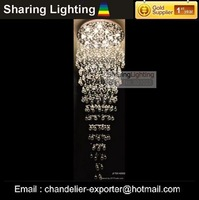Люстра Sharing Lighting]crystal stair chandelier, hotel pendant lamp
