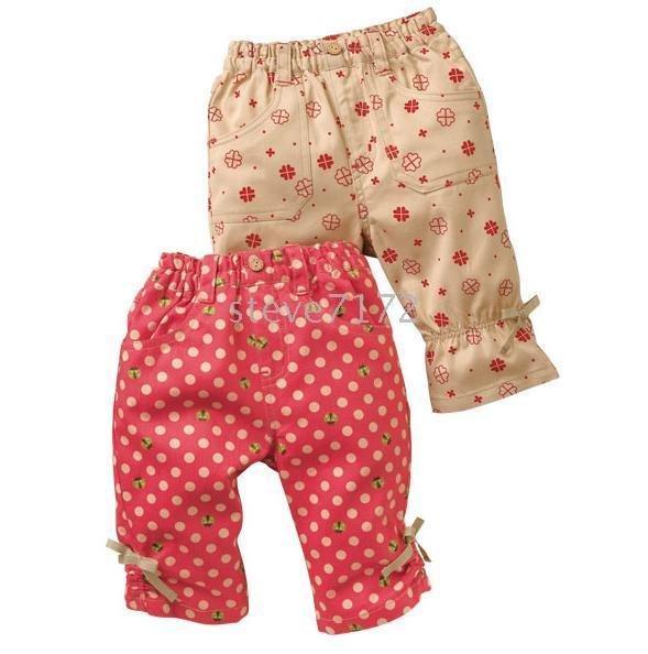 baby Pants Trousers Girls pant breeches pantaloon pants trouser Girl pant short children pant CL282